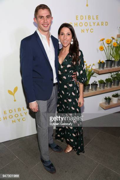 Matt Looney and Alexandra Pearson attend Edible Schoolyard NYC 2018 Spring Benefit at 180 Maiden Lane on April 16 2018 in New York City
