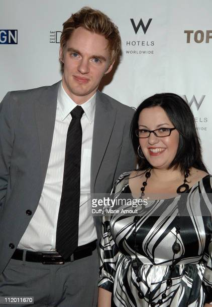 Matt Lorenz and Carisa Perez Fuentes during Bravo's Top Design Finale Party Hosted by Todd Oldham at W HOTEL in New York City New York United States