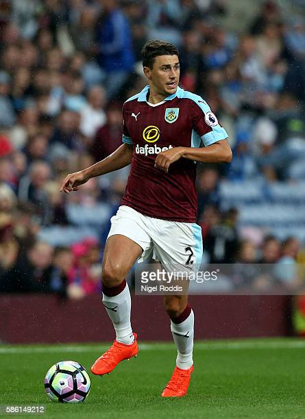 Matt Lowton of Burnley during the PreSeason Friendly match between Burnley and Real Sociedad at Turf Moor on August 5 2016 in Burnley England