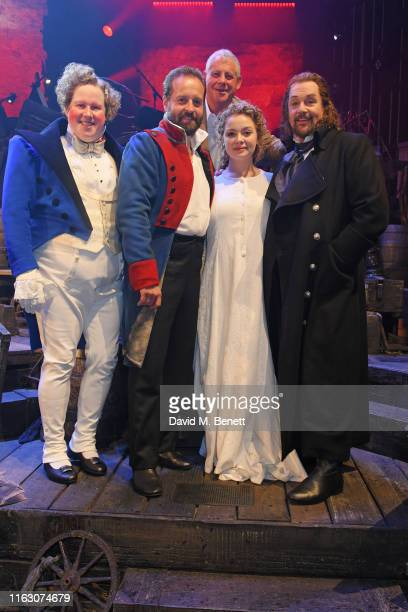 Matt Lucas Alfie Boe Sir Cameron Mackintosh Carrie Hope Fletcher and Michael Ball attend the press night performance of Les Miserables The Staged...
