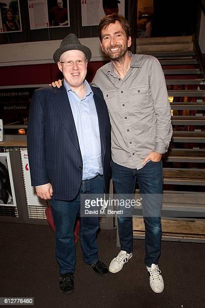 Matt Lucas and David Tennant attend the press night performance of 'The Boys In The Band' at The Park Theatre on October 4 2016 in London England