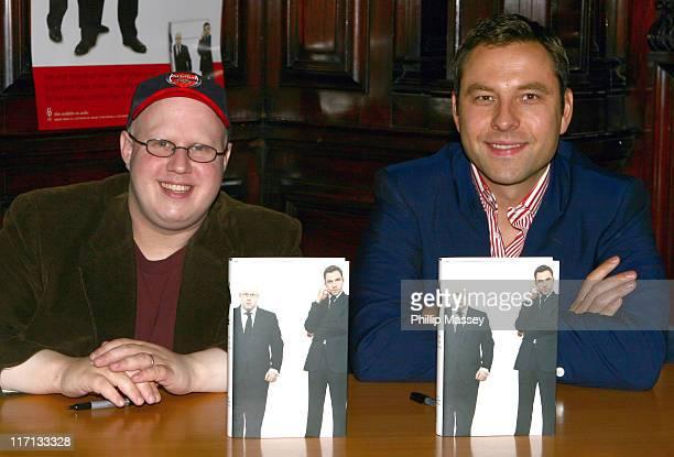 Matt Lucas and David Walliams during Matt Lucas and David Walliams Sign Their Book Inside Little Britain at Eason Bookstore in Dublin September 23...