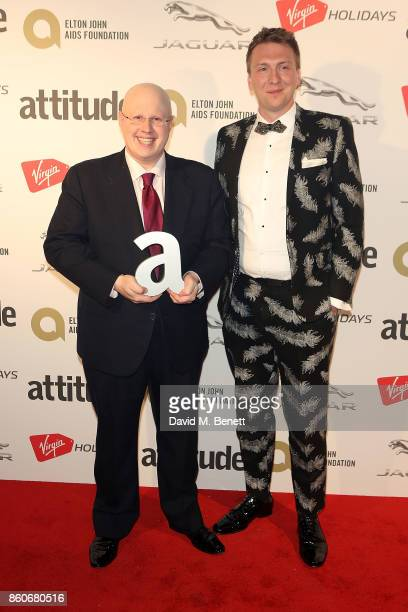 Matt Lucas and Joe Lycett attend the Attitude Awards 2017 at The Roundhouse on October 12 2017 in London England