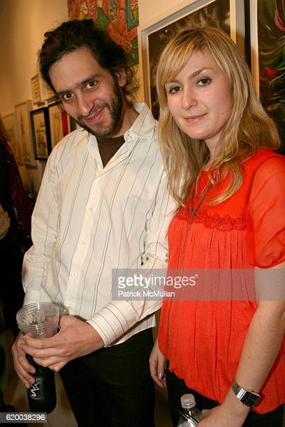 Matt Lucas and Julie Fishkin attend PAPERCUT Inaugural Exhibition to Celebrate the Print Making Process at Heist Gallery on December 13 2008 in New...