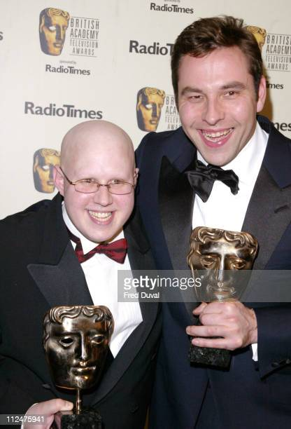 Matt Lucas with David Walliams with their awards for Best Comedy Programme 'Little Britain'