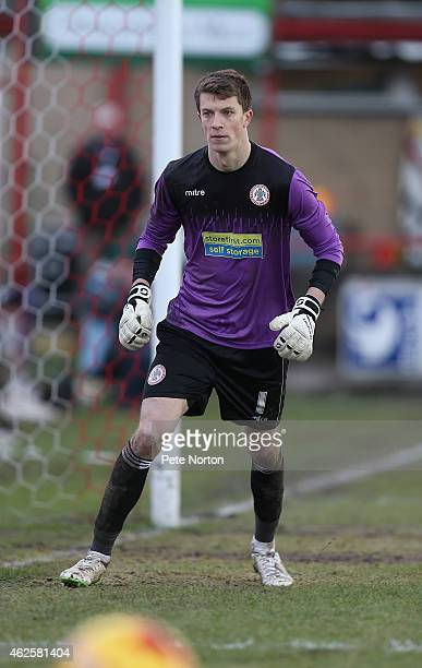 Matt Macey of Accrington Stanley in action during the Sky Bet League Two match between Accrington Stanley and Northampton Town at Store First Stadium...