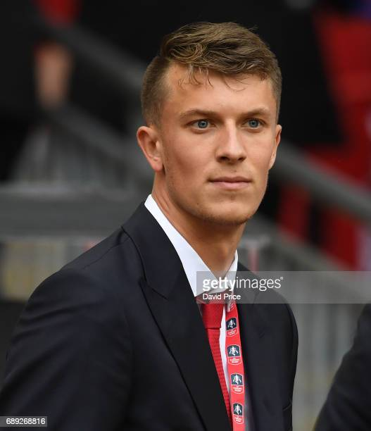 Matt Macey of Arsenal after the match between Arsenal and Chelsea at Wembley Stadium on May 27 2017 in London England
