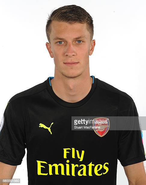 Matt Macey of Arsenal at the 1st team photocall at London Colney on August 3 2016 in St Albans England