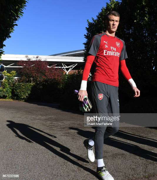 Matt Macey of Arsenal before a training session at London Colney on October 27 2017 in St Albans England