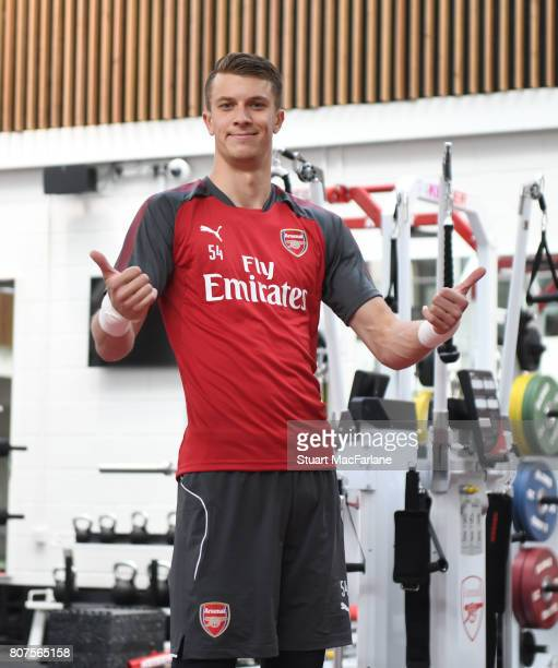 Matt Macey of Arsenal during a training session at London Colney on July 4 2017 in St Albans England