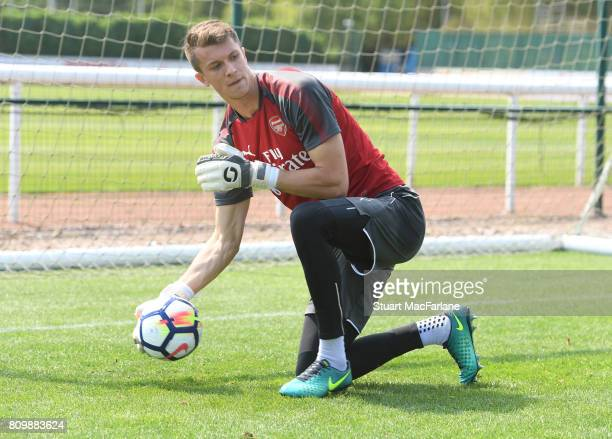 Matt Macey of Arsenal during a training session at London Colney on July 6 2017 in St Albans England
