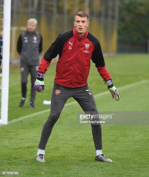 Matt Macey of Arsenal during a training session at London Colney on November 21 2017 in St Albans England