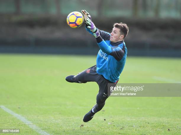Matt Macey of Arsenal during a training session at London Colney on December 30 2017 in St Albans England