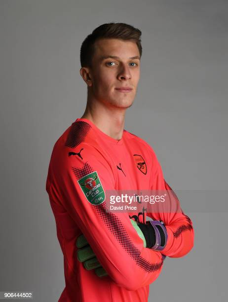 Matt Macey of Arsenal during an Arsenal Magazine Photoshoot at London Colney on January 8 2018 in St Albans England