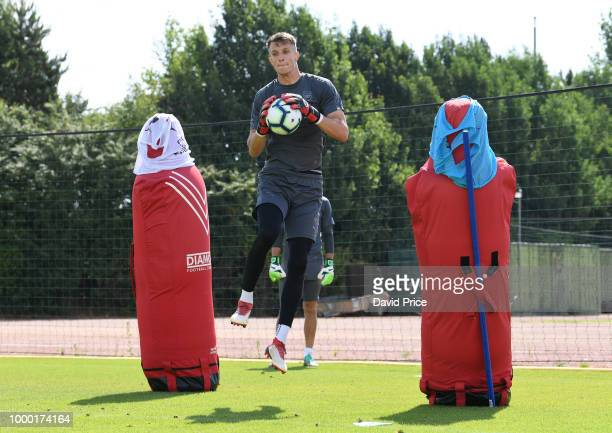 Matt Macey of Arsenal during an Arsenal Training Session at London Colney on July 16 2018 in St Albans England