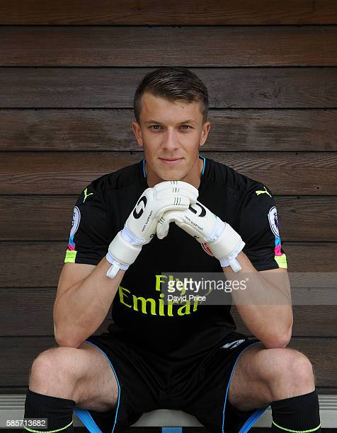 Matt Macey of Arsenal during the Arsenal 1st team photocall at London Colney on August 3 2016 in St Albans England