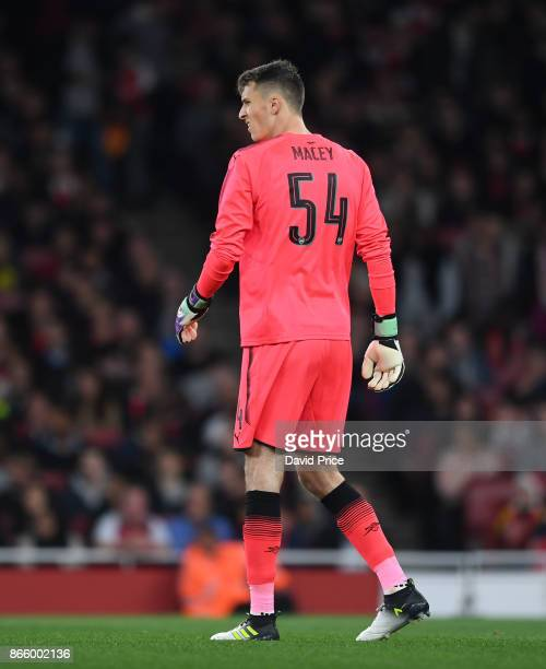 Matt Macey of Arsenal during the Carabao Cup Fourth Round match between Arsenal and Norwich City at Emirates Stadium on October 24 2017 in London...