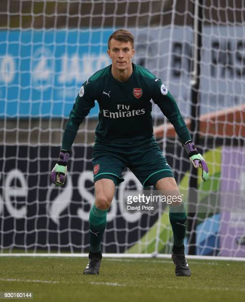 Matt Macey of Arsenal during the match between Arsenal and Tottenham Hotspur at Meadow Park on March 10 2018 in Borehamwood England