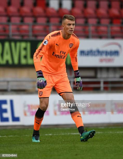 Matt Macey of Arsenal during the match between Leyton Orient and Arsenal U23 at Brisbane Road on August 1 2017 in London England