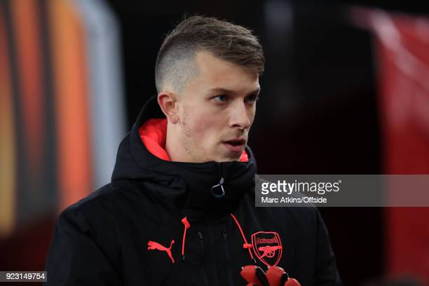 Matt Macey of Arsenal during the UEFA Europa League Round of 32 match between Arsenal and Ostersunds FK at the Emirates Stadium on February 22 2018...