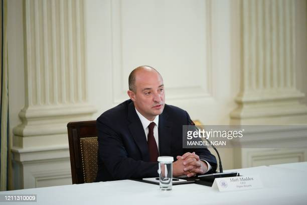 Matt Maddox, CEO of Wynn Resorts takes part in a roundtable discussion with US President Donald Trump and other industry executives on Opening Up...