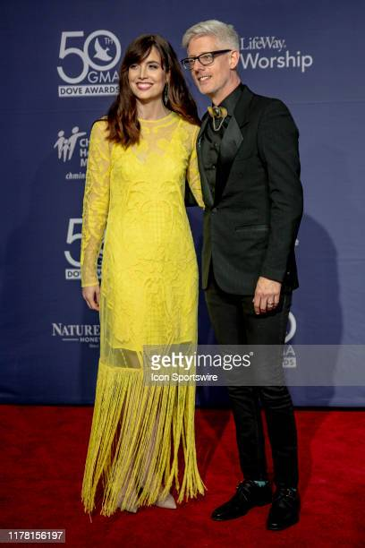 Matt Maher and Kristin Fisher on the red carpet for the 50th Annual GMA Dove Awards at Allen Arena Lipscomb University on October 15 2019 in...