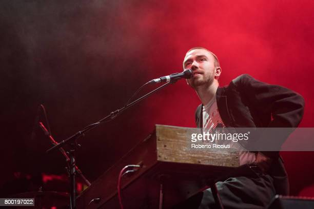 Matt Maltese performs on stage at O2 Academy Glasgow on June 23 2017 in Glasgow Scotland