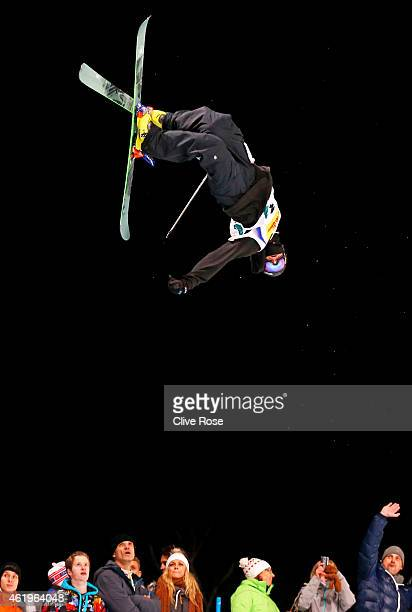 Matt Margetts of Canada competes in the Men's Ski Halfpipe Finals during the FIS Freestyle Ski and Snowboard World Championships 2015 on January 22...