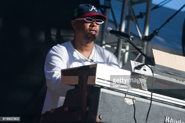 Matt Martians from The Internet performs on stage at St Jerome's Laneway Festival on February 11 2018 in Fremantle Australia