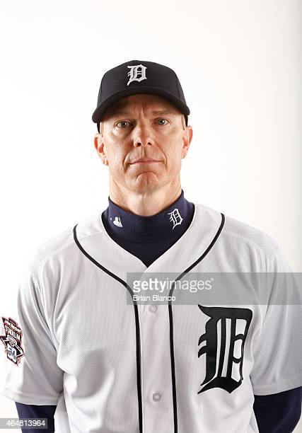 Matt Martin of the Detroit Tigers poses for a photo during the Tigers' photo day on February 28 2015 at Joker Marchant Stadium in Lakeland Florida