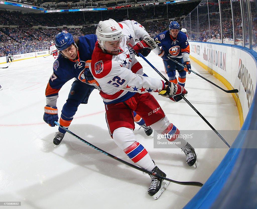 Washington Capitals v New York Islanders - Game Four : News Photo