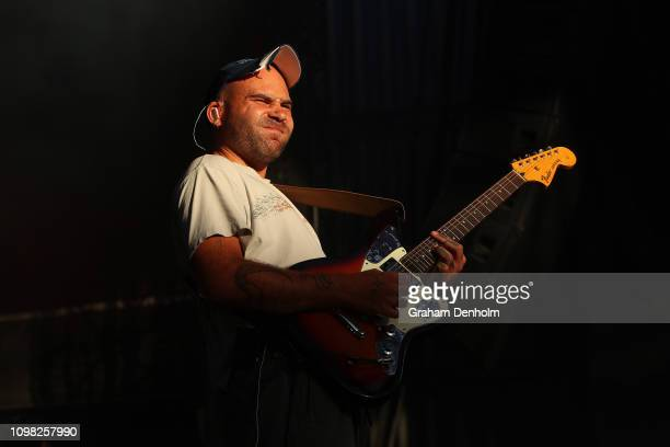 Matt Mason of DMA's performs on the AO Live Stage during day ten of the 2019 Australian Open at Melbourne Park on January 23, 2019 in Melbourne,...