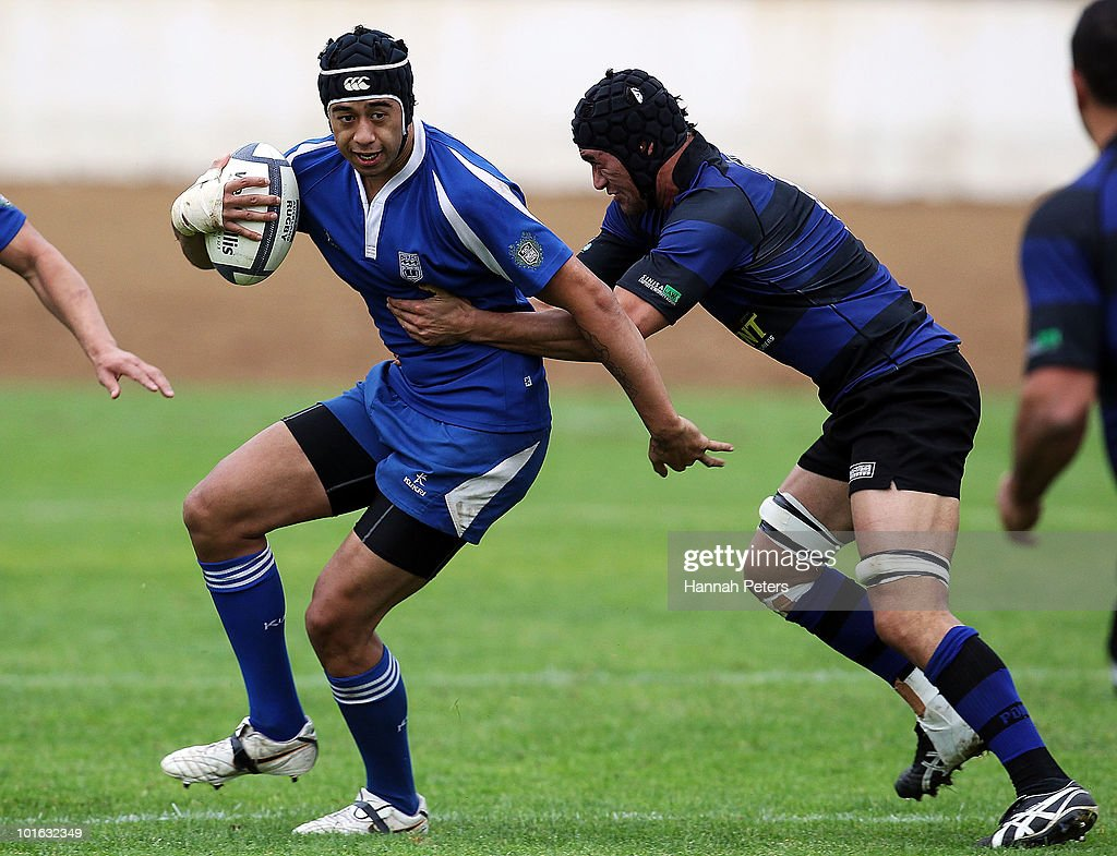 Matt Matich of University charges forward during the club rugby match between Ponsonby and University at Western Springs Stadium on June 5, 2010 in Auckland, New Zealand.