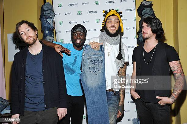 Matt McGinley Disashi LumumbaKasongo Travie McCoy and Eric Roberts of Gym Class Heroes attend Z100 Coca_Cola All Access Lounge at Z100's Jingle Ball...