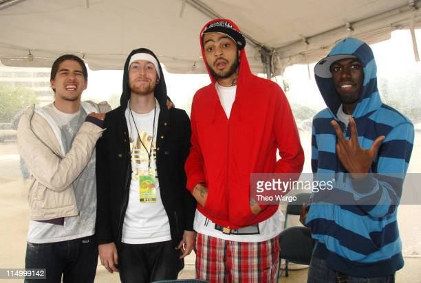 Matt McGinley Eric Roberts Travis Schleprok McCoy and Disashi LumumbaKasongo of Gym Class Heroes
