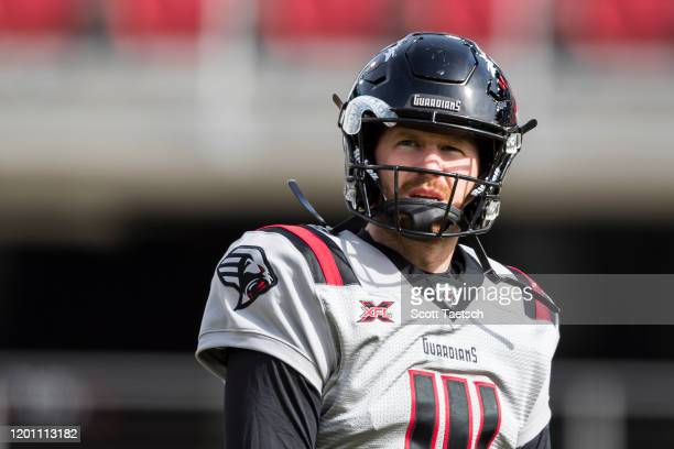 Matt McGloin of the NY Guardians looks on before the XFL game against the DC Defenders at Audi Field on February 15, 2020 in Washington, DC.