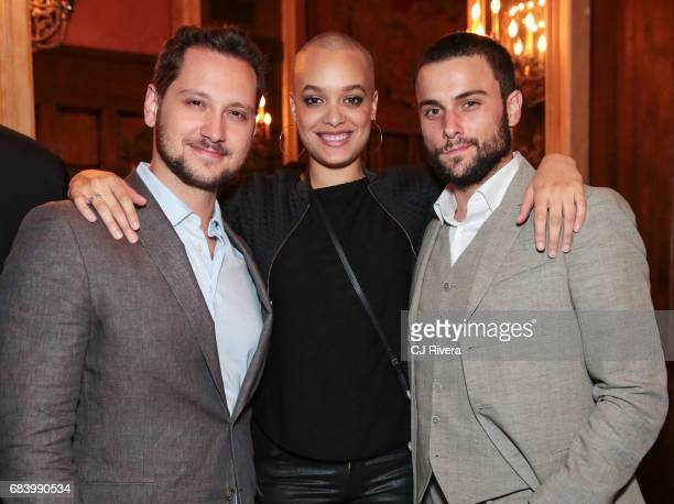 Matt McGorry Britne Oldford and Jack Falahee attend the 2017 Gersh Upfronts Party at The Jane Hotel on May 16 2017 in New York City