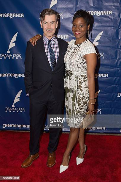 Matt McGrath and Afton Williamson attend the 2016 Drama Desk Awards Arrivals at Anita's Way on June 5 2016 in New York City