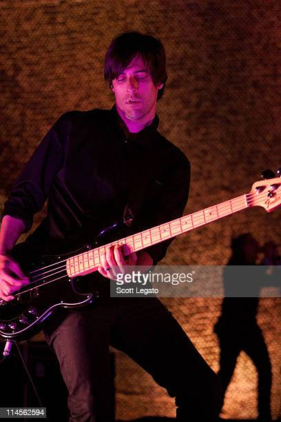 Matt McJunkins of A Perfect Circle perform during the 2011 Rock On The Range festival at Crew Stadium on May 22 2011 in Columbus Ohio