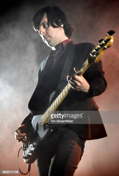 Matt McJunkins of A Perfect Circle performs at Bill Graham Civic Auditorium on April 13 2017 in San Francisco California