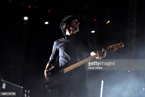 Matt McJunkins of A Perfect Circle performs onstage during the 2018 Coachella Valley Music And Arts Festival at the Empire Polo Field on April 22...