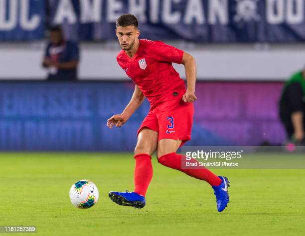 Matt Miazga of the United States passes during a game between Cuba and USMNT at Audi Field on October 11, 2019 in Washington, DC. .