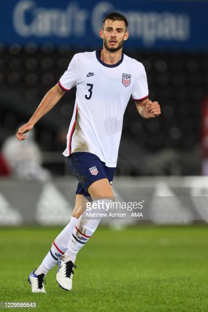 Matt Miazga of United States of America during the international friendly match between Wales and the USA at Liberty Stadium on November 12, 2020 in...