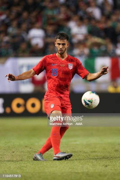 Matt Miazga of USA during the 2019 CONCACAF Gold Cup Final between Mexico and United States of America at Soldier Field on July 7, 2019 in Chicago,...