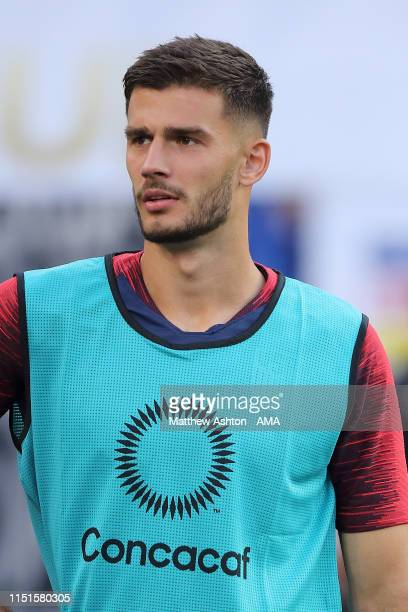 Matt Miazga of USA during the Group D 2019 CONCACAF Gold Cup fixture between United States of America and Trinidad & Tobago at FirstEnergy Stadium on...