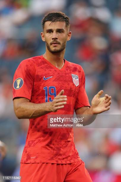 Matt Miazga of USA during the Group D 2019 CONCACAF Gold Cup match between Panama v United States of America at Children's Mercy Park on June 26,...