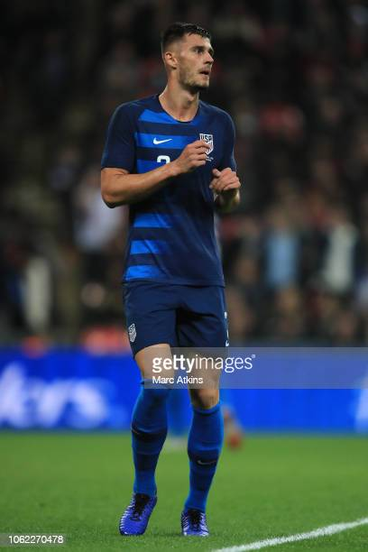 Matt Miazga of USA during the International Friendly match between England and United States at Wembley Stadium on November 15, 2018 in London,...
