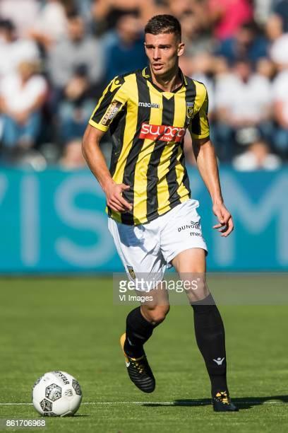 Matt Miazga of Vitesse during the Dutch Eredivisie match between Heracles Almelo and Vitesse Arnhem at Polman stadium on October 15 2017 in Almelo...