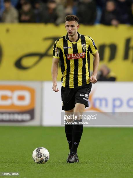 Matt Miazga of Vitesse during the Dutch Eredivisie match between Vitesse v Heracles Almelo at the GelreDome on March 17 2018 in Arnhem Netherlands