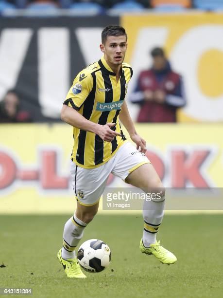 Matt Miazga of Vitesseduring the Dutch Eredivisie match between Vitesse Arnhem and Ajax Amsterdam at Gelredome on February 19 2017 in Arnhem The...